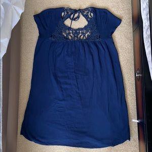 Zara blue babydoll dress